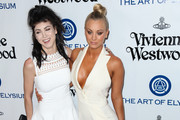Kaley Cuoco and Briana Cuoco are seen attending Art of Elysium's 9th annual Heaven Gala.
