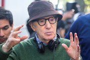 Woody Allen is seen on the movie set of the 'Untitled Woody Allen Project'.