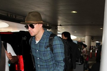 Channing Tatum Channing Tatum and Jenna Dewan Arrive at LAX