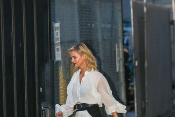 Charlize Theron Charlize Theron Is Seen At 'Jimmy Kimmel Live'