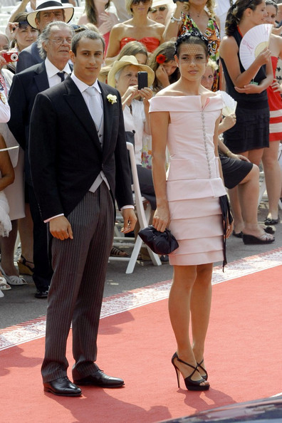 Charlotte Casiraghi Grimaldi family members arrive for the royal