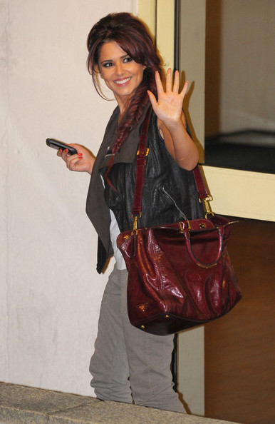 Cheryl Cole Celebrities leave after watching the second live show of the X Factor.