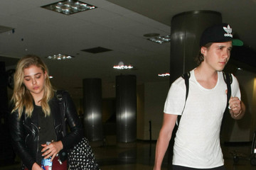 Chloe Grace Moretz Chloe Moretz and Brooklyn Beckham Spotted at LAX