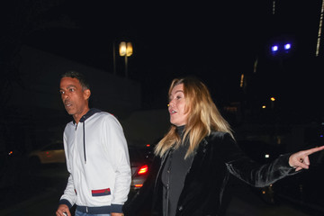 Chris Ivery Ellen Pompeo and Chris Ivery at Lakers game