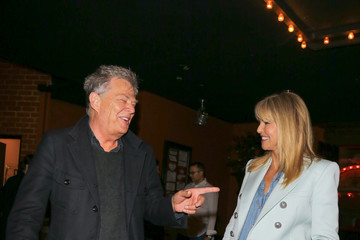 Christie Brinkley David Foster and Christie Brinkley Enjoy Dinner at The Stinking Rose in Beverly Hills