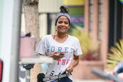 Christina Milian is seen in Los Angeles, California on June 21, 2019.