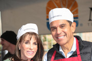 Kate Linder and Antonio Villaraigosa are seen attending Christmas Meal for The Homeless at LA Mission in Los Angeles, California.