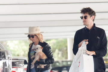 Christopher French Ashley Tisdale Shops At The Apple Store