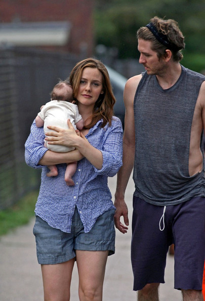 Alicia Silverstone on Set with Family