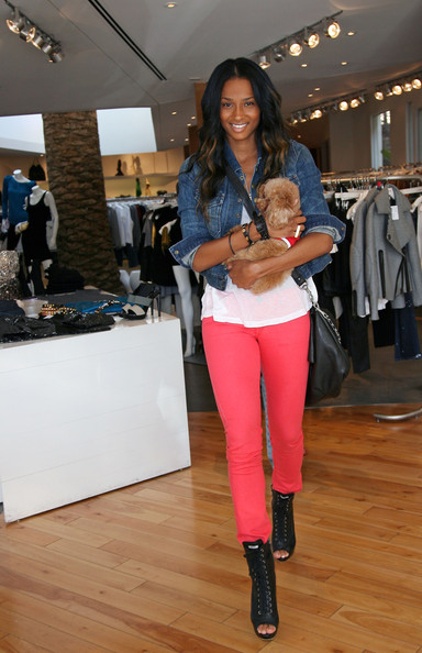 Ciara and her pup shop on Robertson Boulevard.