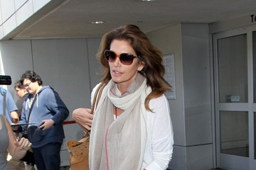 Cindy Crawford Cindy Crawford and Kaia Gerber at LAX