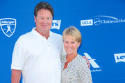 Rick Honeycutt and Debbie Honeycutt are seen attending Clayton Kershaw's 5th Annual Ping Pong 4 Purpose Celebrity Tournament at Dodger Stadium in Los Angeles, California.