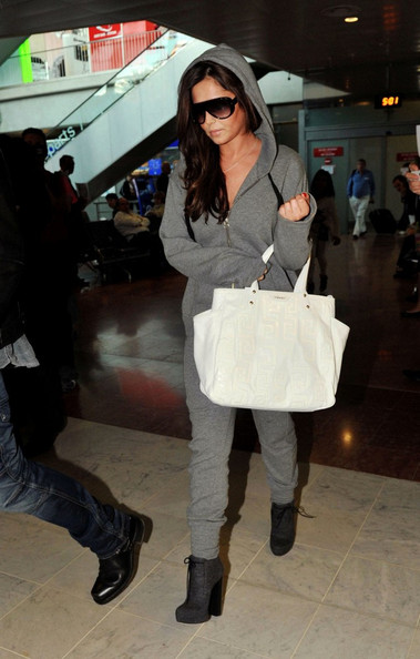 Cheryl Cole arrives at Nice Cote d'Azur Airport from Los Angeles to attend the Cannes Film Festival.