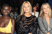 Adut Akeck, Kate Moss and Cecilia Bonstrom are seen attending The Daily Front Row's 7th annual Fashion Media Awards at The Rainbow Room in New York City.