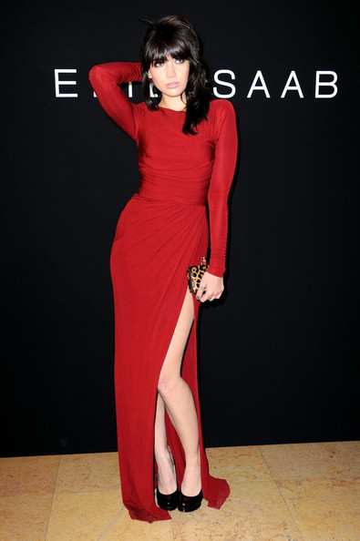 Daisy Lowe The Elie Saab Fall Winter 2011/2012 couture fashion show held at the Theatre National de Chaillot.