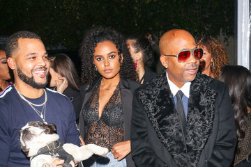 Damon Dash Raquel Horn And Damon Dash Outside Nightingale Nightclub In West Hollywood