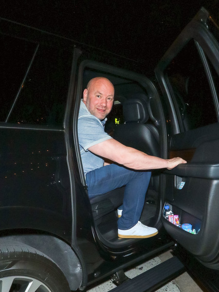 Dana White Outside Craig's Restaurant In West Hollywood