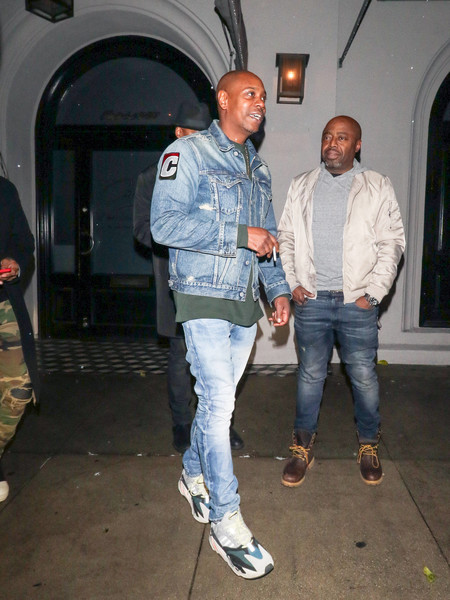 Dave Chappelle Outside Craig's Restaurant In West Hollywood