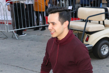 David Archuleta David Archuleta Outside Hollywood Christmas Parade