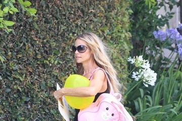 Denise Richards Denise Richards Picks Up Her Daughter from School