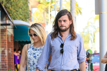 Dianna Agron Dianna Agron and Winston Marshall Out For a Stroll