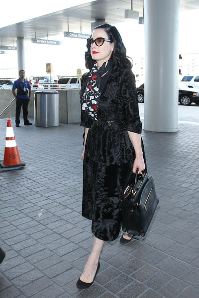 Dita Von Teese Is Seen at LAX