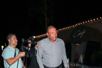 Doc Rivers Dascha Polanco Outside Culture Powered by Samsung Galaxy at Avenue Nightclub in Hollywood