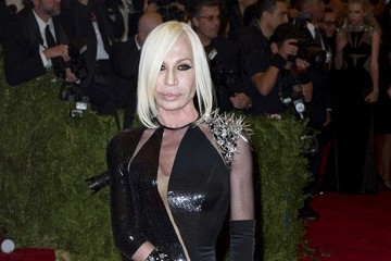Donatella Versace Arrivals at the Met Gala in NYC