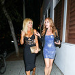 Donna D'errico Donna D'Errico And Tracey Bregman Outside Delilah Nightclub In West Hollywood