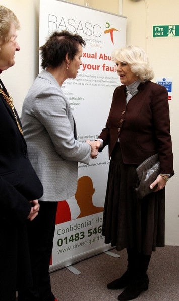 The Duchess of Cornwall visits the Rape and Sexual Abuse Support Centre (RASASC) where she met staff, volunteers and trustees, Guildford, Surrey.