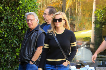 Dustin Hoffman Reese Witherspoon Wears a Striped Sweater in LA