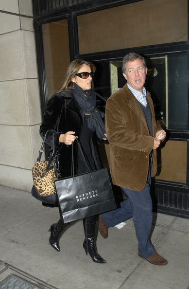 Hugh Grant and Elizabeth Hurley Meet for Lunch