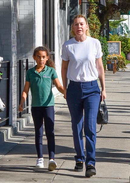 Ellen Pompeo And Daughter Stella Step Out In L.A.