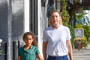 Ellen Pompeo and her daughter, Stella are seen in Los Angeles, California on October 30, 2018.