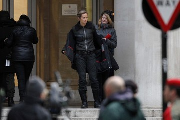 Emily Blunt Tom Cruise Tom Cruise and Emily Blunt Film 'All You Need Is Kill'