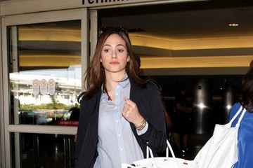 Emmy Rossum Emmy Rossum Spotted at LAX