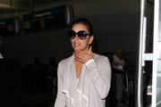 Eva Longoria is seen at LAX