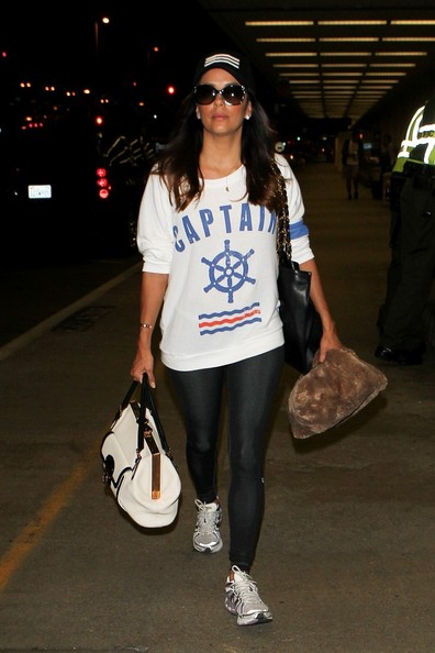 Eva Longoria arrives at LAX.