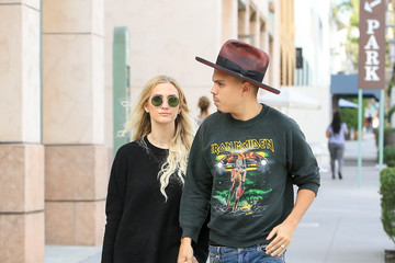 Evan Ross Ashlee Simpson and Evan Ross in Beverly Hills