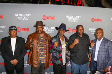 Evander Holyfield Tyson Fury At 'Fury vs. Wilder' Fight At The Staples Center