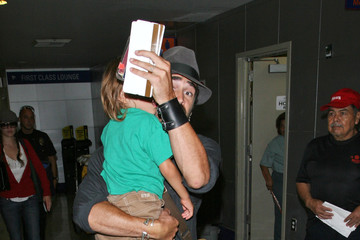 James Farrell Colin Farrell and His Son at LAX