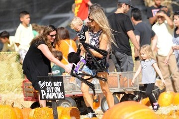 Fergie Josh Duhamel and Fergie at the Pumpkin Patch