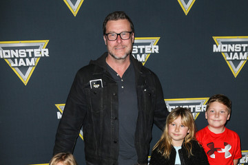 Finn McDermott Celebrities Attend Monster Jam Celebrity Night at Angel Stadium Anaheim