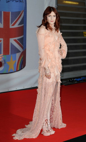 Florence Welch The BRIT Awards 2012 held at the O2 Arena.