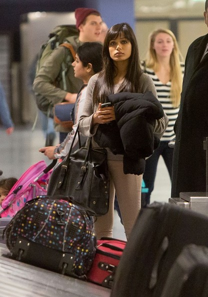 Freida Pinto - Freida Pinto at the Airport in LA