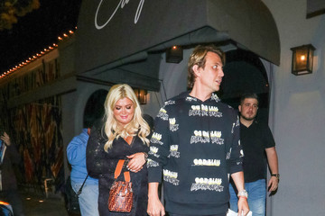 Gemma Collins Jonathan Cheban And Gemma Collins Outside Craig's Restaurant In West Hollywood