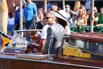 George Clooney George Clooney and Amal Alamuddin Go Boating