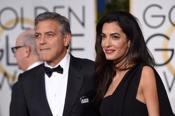 George Clooney Arrivals at the Golden Globe Awards