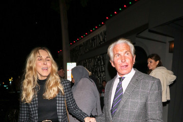 George Hamilton George Hamilton And Alana Stewart Outside Craig's Restaurant In West Hollywood