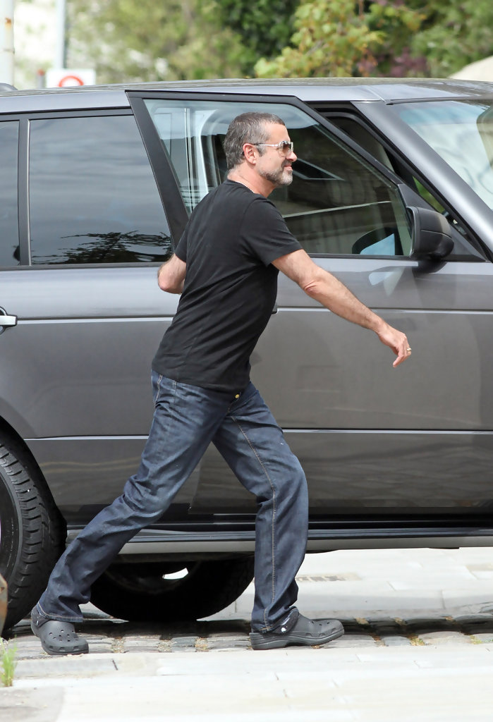 George michael out and about pictures